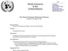 The Peace Process: Reducing Violence Lesson Plan