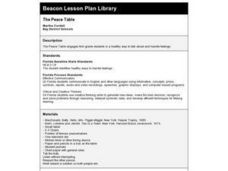 The Peace Table Lesson Plan