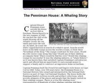 The Penniman House: A Whaling Story Lesson Plan