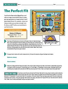The Perfect Fit - Take Home Volume Activity Worksheet