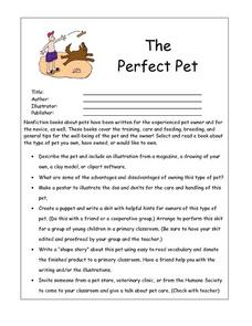 The Perfect Pet Worksheet