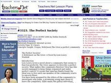 The Perfect Society Lesson Plan