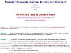 The Periodic Table of Elements Game Lesson Plan