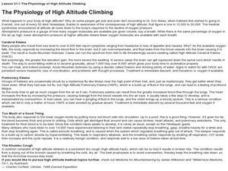 The Physiology of High Altitude Climbing Lesson Plan