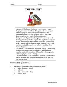 The Pianist Worksheet