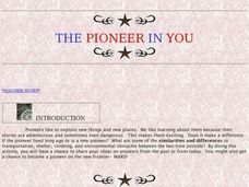 The Pioneer in You Lesson Plan
