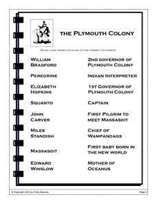 The Plymouth Colony Worksheet