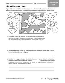 The Polly Gone Code: Enrichment Game Worksheet