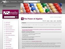 The Power of Algebra Lesson Plan