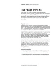 The Power of Media Lesson Plan