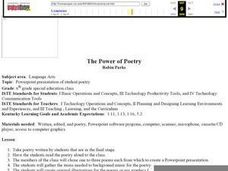 The Power of Poetry Lesson Plan