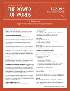 The Power of Words: Intention and Perception Lesson Plan