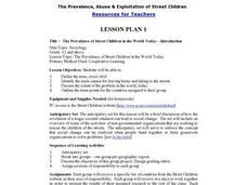 The Prevalence of Street Children in the World Today - Introduction Lesson Plan