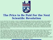 The Price to Be Paid For the Next Scientific Revolution Lesson Plan