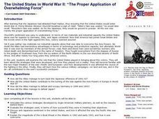 """The Proper Application of Overwhelming Force"": The United States in World War II Lesson Plan"