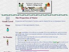 The Properties of Water Lesson Plan