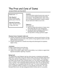 The Pros and Cons of Dams Lesson Plan