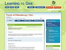 The Puzzle of Philanthropy Lesson Plan