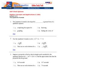 The Quadratic Formula Worksheet