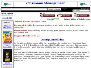 The Quiet Game Lesson Plan