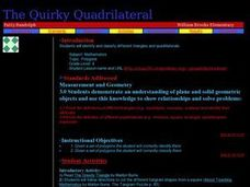 The Quirky Quadrilateral Lesson Plan