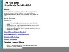 The Rare Earth - How Rare Is Earth-Like Life? Lesson Plan