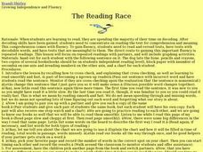 The Reading Race Lesson Plan
