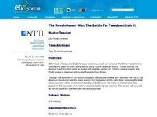 The Revolutionary War: The Battle For Freedom Lesson Plan
