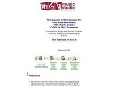 The Rhythm of R & B - Lesson 8 Lesson Plan