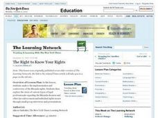The Right to Know Your Rights Lesson Plan