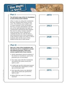 The Right to Vote Worksheet