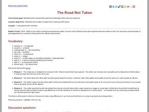 The Road Not Taken Lesson Plan