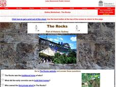 The Rocks: Part of Historic Sydney Worksheet