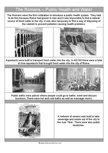 The Romans: Public Health and Water Worksheet
