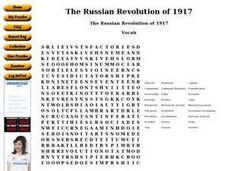 The Russian Revolution of 1917 Worksheet