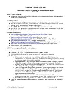 The Salem Witch Trials Lesson Plan