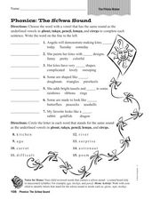 The Schwa Sound Worksheet