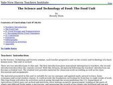 The Science and Technology of Food Lesson Plan