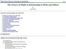 The Science of Flight in Relationship to Birds and Gliders Lesson Plan