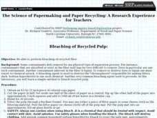 The Science of Papermaking and Paper Recycling Lesson Plan