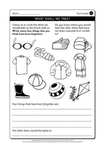 The Seaside Worksheet
