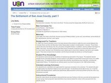 The Settlement of San Juan County, Part 1 Lesson Plan