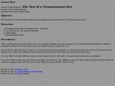 The Size of a Tyrannosaurus Rex Lesson Plan