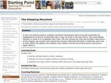 The Sleeping Mountain Lesson Plan
