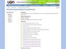 The Solar System and the Forces Behind It Lesson Plan