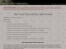 The 'Solar' System Past and Present Lesson Plan