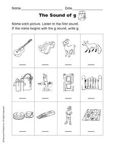 The Sound of G Worksheet