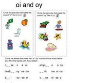 "The Sound of ""oy"" and ""oi"" Worksheet"