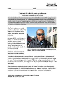 The Stanford Prison Experiment Worksheet