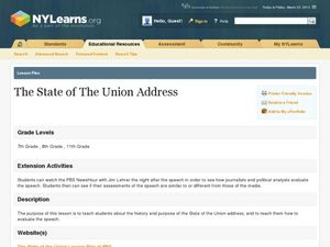 The State of the Union Address Lesson Plan